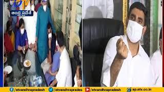 Nara Lokesh speaks after meeting Atchannaidu family at Nim..