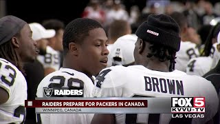 Raiders prepare for Packers in Canada