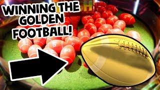 Winning the Golden Football at the Arcade!