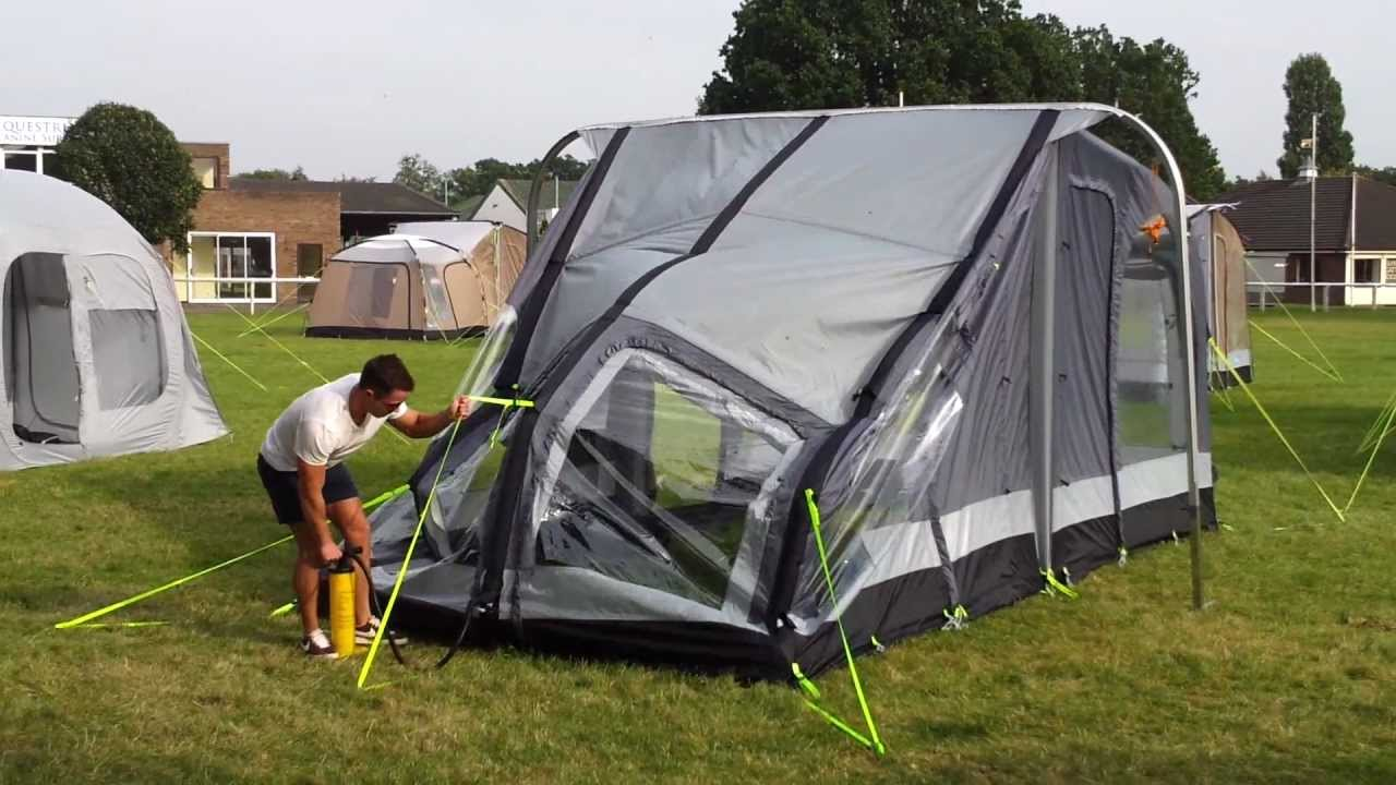 Kampa Rally Air Inflatable Caravan Awning Youtube