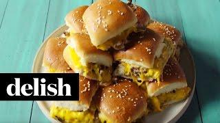 How To Make Pull-Apart Cheeseburger Sliders | Delish
