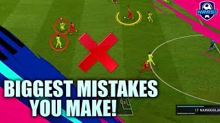 BIGGEST MISTAKES PLAYERS MAKE in FIFA 19! THESE SECRET TIPS WILL TAKE YOUR SKILLS TO THE NEXT LEVEL