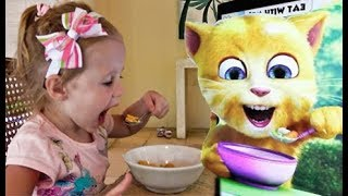 Funny Stacy play Talking Cat Game - YouTube