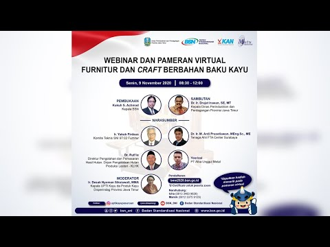 https://www.youtube.com/watch?v=-37vuQkP078&t=155sWebinar dan Pameran Virtual Furnitur dan Craft Berbahan Baku Kayu