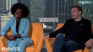 Viola Davis Talks 'Widows' Love Scenes with Liam Neeson, Plus: How She Broke the Ice with Co-Stars