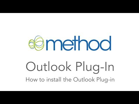 [Method CRM] Outlook Plug-in: Installation