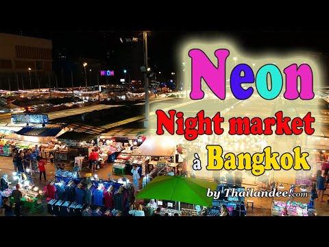 neon market, marché de nuit à bangkok