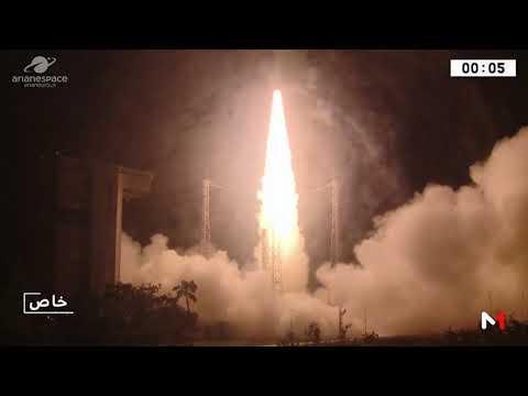 ما لم تره لحظة إطلاق القمر الصناعي المغربي