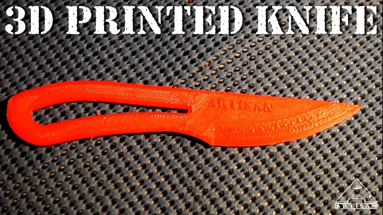 3d Printed Knife Will It Cut Paper Youtube