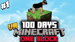 I Spent 100 Days in ONE BLOCK Minecraft VR and Here's What Happened