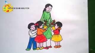 Vẽ tranh Ngày Nhà giáo Việt Nam 20-11/ How to Draw Teacher's Day