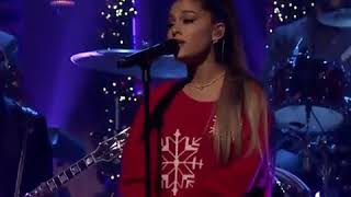 Ariana grande performs imagine for the first time live on the Jimmy fallon show