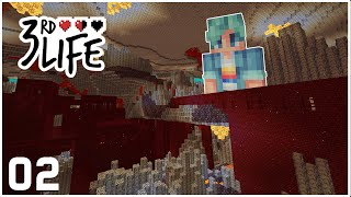 The Nether Is MINE Now! - Minecraft 3rd Life SMP - Ep.2