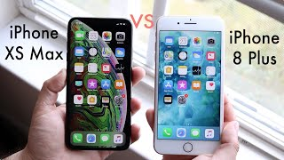 iPHONE XS MAX Vs iPHONE 8 PLUS! (Should You Upgrade?) (Review)