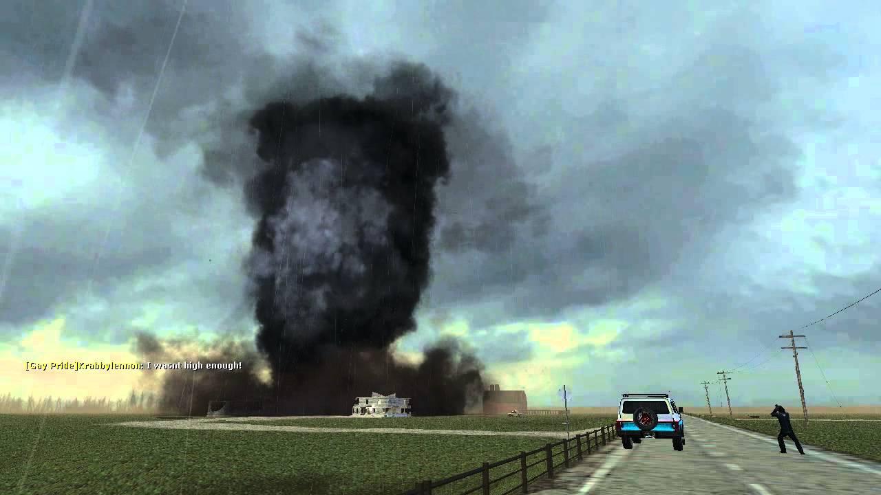 Gmod Storm Chasers Air Ship Vs Tornado Youtube