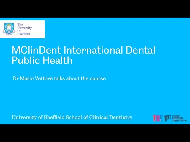 NEW MClinDent in International Dental Public Health