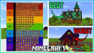 I Made a Tier List of EVERY Minecraft Block as of 1.17!