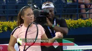 Highlights: WTA R1 - Kasatkina d. Radwanska