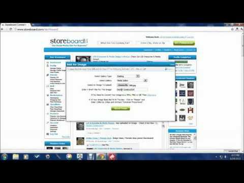 How To Upload Your Images On Storeboard - LJD Enterprise  Media Design - Sour Lake - Texas.flv