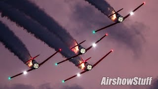 Aeroshell Aerobatic Team Night Show - EAA AirVenture Oshkosh 2019