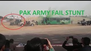 Pakistan army stunt gone wrong - a quick response to the situation. Original version