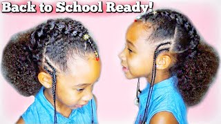Easy Braided Style for kids | Collaboration with Channing Lilly! | Back to school hair ideas