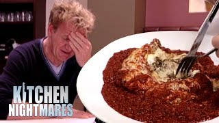 'Fresh' Lasagne is Actually FROZEN then Microwaved! | Kitchen Nightmares