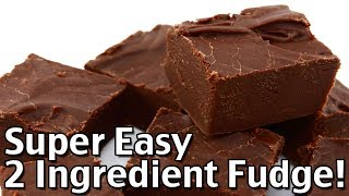 Super Easy 2 Ingredient Fudge In One Bowl - Tasty Christmas Candy Recipe!