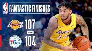 Lakers Seal The Game vs. 76ers With Brandon Ingram Game Winner! | December 7, 2017