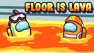 Among us but THE FLOOR IS LAVA (mods)