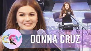 """GGV: Donna Cruz sings """"Habang May Buhay"""" on the treadmill"""