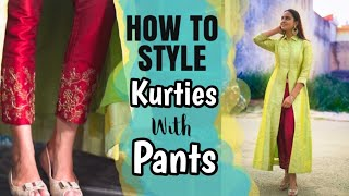 How to Style Kurties  with Pants  | Myntra Fashion #practicalfashion #styling #kurtieswithpants