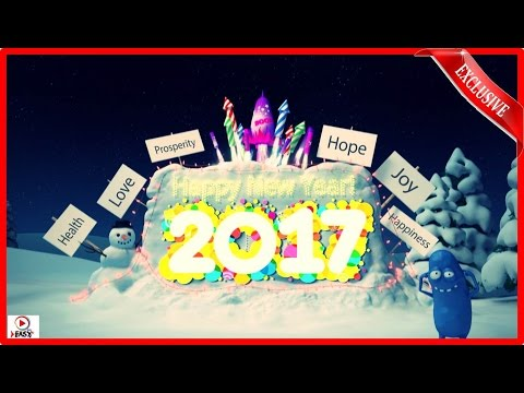 Happy New Year 2017 / Funny Christmas Cartoon Video / Amazing Fireworks 2017