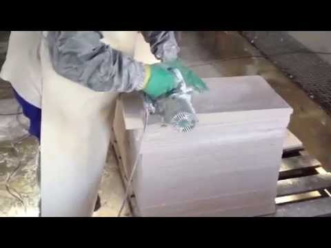 8.- How a WATER DRIP GROOVE in a coping stone is done - Como se hace UN GOTERÓN en una albardilla