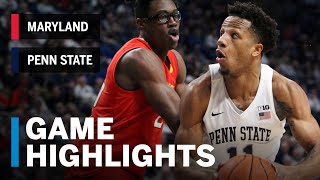 Highlights: Lamar Stevens Goes for 24 in Rout of Terps   Maryland vs. Penn State   Feb. 27, 2019