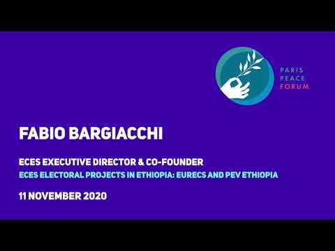 ECES au Forum de Paris sur la Paix : Fabio Bargiacchi sur nos projets en Ethiopie