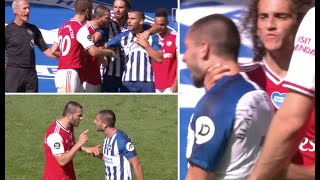 Full time chaos as Arsenal players seek out match-winner Maupay