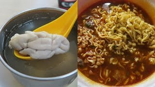 Eating Taiwanese Ramen, Pig Brain Soup & Breakfast From 7-Eleven