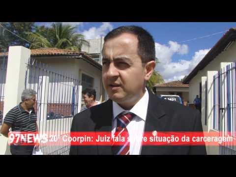 20ª COORPIN JUIZ FALA SOBRE SITUAÇÃO DA CARCERAGEM