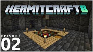 HermitCraft 8 E02 - ENCHANTING, PARTNERING & BUILDING