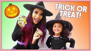 Her FIRST TIME Trick-or-Treating!   MOM VLOG