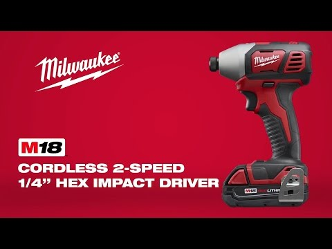 Milwaukee M18BPP2A-402C 18v Twin Pack HD18PD + M18BID 2 x 18v Batteries charger + Case