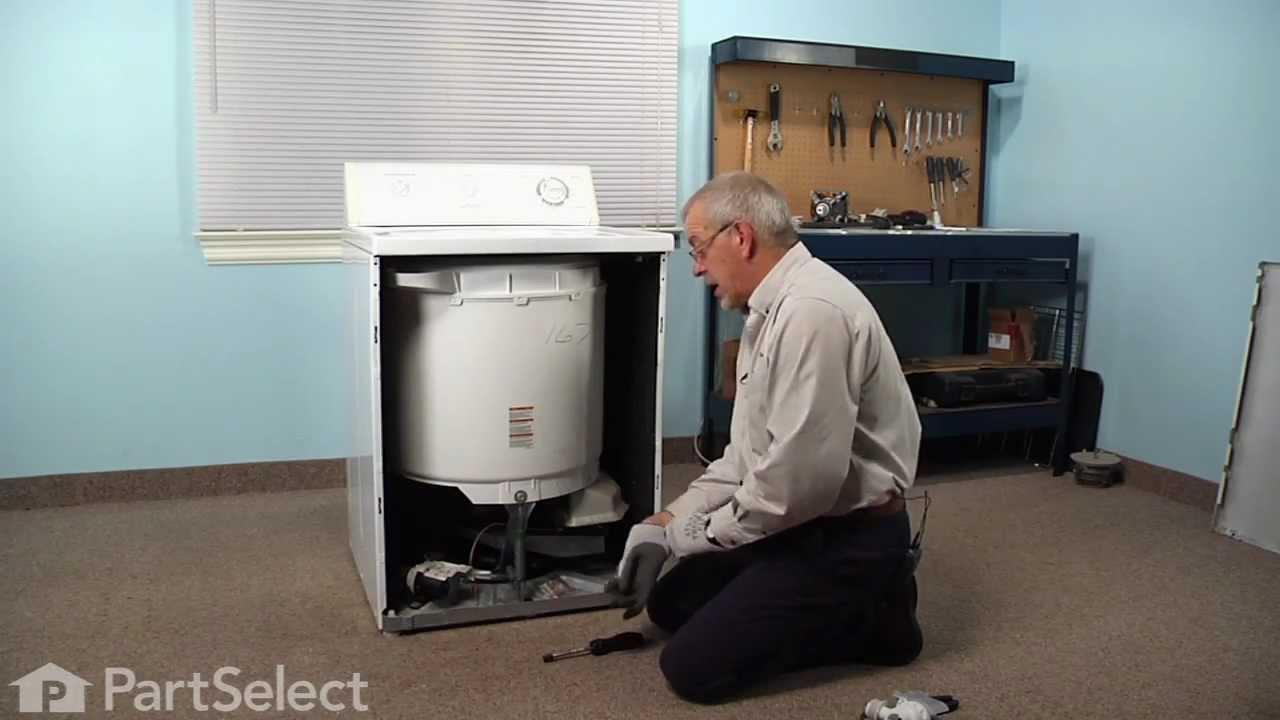 Washing Machine Repair Replacing The Drain Pump Amp Motor