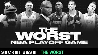 The worst NBA playoff game was over 48 minutes of garbage time