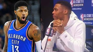 Russell Westbrook Says Paul George is Not Leaving Thunder After Lakers Fans Chant