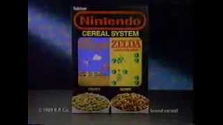 Nintendo Cereal System with Super Mario and Zelda Commercial (1989)