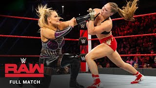 FULL MATCH - Ronda Rousey vs. Natalya – Raw Women's Title Match: Raw, December 24, 2018