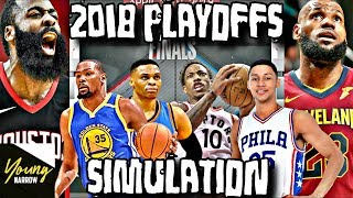 SIMULATING THE 2018 NBA PLAYOFFS ON NBA 2K18!! SO MANY UPSETS!!!