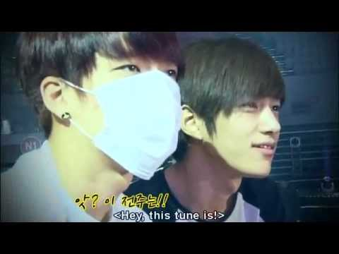 Infinite's reaction when watching Sungyeol and Sungjong Troublemaker rehearsal.flv