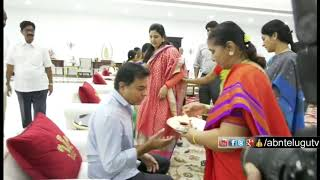 Excl: KTR Takes Blessings from Family Members..